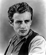 1956 Movies Framed Prints - Giant, James Dean, 1956 Framed Print by Everett