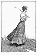 Long Skirt Framed Prints - Gibson Girl, 1899 Framed Print by Granger