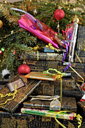 Creativity Art - Gift wrapped presents under Christmas tree by Sami Sarkis