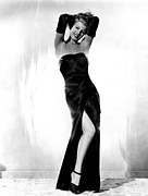 Black Dress Metal Prints - Gilda, Rita Hayworth, 1946 Metal Print by Everett