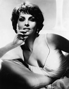 Hand On Chin Acrylic Prints - Gina Lollobrigida, Ca. Early 1960s Acrylic Print by Everett