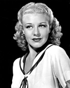 Colbw Framed Prints - Ginger Rogers, In A Publicity Portrait Framed Print by Everett