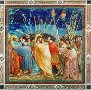 Bondone Posters - Giotto: Betrayal Of Christ Poster by Granger