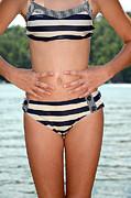 Girl In Bikini Print by Susan Leggett