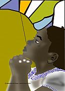 Prayer Digital Art Posters - Girl in Prayer Poster by Michael Chatman