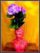 Stones. Sculpture Prints - Girl With Flowers Print by Anand Swaroop Manchiraju