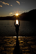 Sun Rays Photos - Girl With Sunset by Joana Kruse