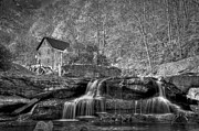 Grist Mill Prints - Glade Creek Grist Mill at Babcock Print by Williams-Cairns Photography LLC