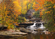 Grist Mill Art - Glade Creek Grist Mill - Fall by Harold Rau