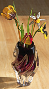 Adorning Prints - Glass Bouquet 1 Print by Steve Ohlsen