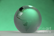 Paper Weight Prints - Glass Globe Print by Photo Researchers, Inc.