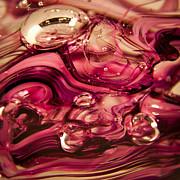 Glass Macro V Print by David Patterson