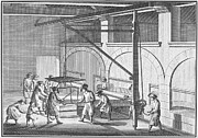1751 Framed Prints - Glass Manufacture, 1751 Framed Print by Granger