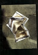 Contemporary Collage Metal Prints - Glass Sculpture Metal Print by Sarah Loft