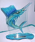 Carey Chen Glass Art - Glass Trophy by Carey Chen