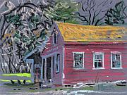 California Drawings Metal Prints - Glenbrook Carriage House Metal Print by Donald Maier