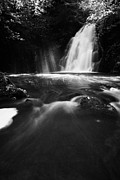 Green Movement Prints - Gleno or Glenoe Waterfall county antrim Print by Joe Fox
