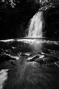Gleno Posters - Gleno or Glenoe Waterfall county antrim northern ireland uk Poster by Joe Fox