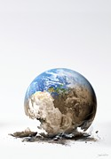 Warming Up Prints - Global Warming, Conceptual Artwork Print by Detlev Van Ravenswaay