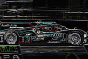 Race Digital Art Originals - Glowing Audi by Rick Rocha