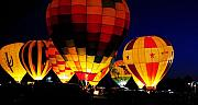 Hot Air Balloon Prints - Glowing Print by Clayton Bruster