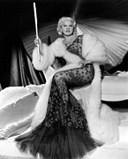 White Fur Prints - Go West, Young Man, Mae West, 1936 Print by Everett