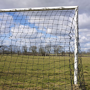 Sports Fields Framed Prints - Goal Framed Print by Bernard Jaubert