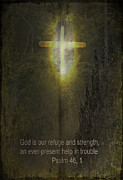 Jesus Digital Art Prints - God is our Refuge Print by Dale Stillman