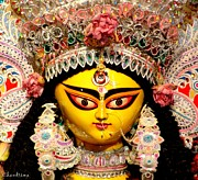 Goddess Durga Photo Posters - Goddess Durga Poster by Chandrima Dhar