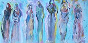 Night Out Painting Prints - Goddess Girls Night Out Print by Trenda Plunkett
