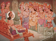 Gods Entertaining Mahavira Print by Photo Researchers