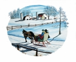 Winter Scene Paintings - Going Home by Raymond Edmonds