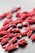 Spill Framed Prints - Goji berries Framed Print by Elena Elisseeva