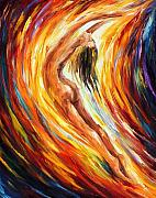 Afremov Art - Gold Falls by Leonid Afremov