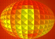 Muladhara-chakra Prints - Golden Ellipse Print by Ramon Labusch