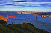 Alcatraz Prints - Golden Gate Sunset 2. Print by Laszlo Rekasi