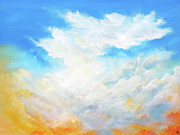 Big Skies Paintings - Golden heart by Colin Perini