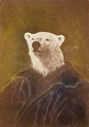 Bear Mixed Media Posters - Goliah Bear Poster by Cassius Cassini