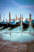 Stakes Framed Prints - Gondolas at Piazza San Marco Venice Framed Print by Gordon Wood
