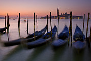 Water Filter Art - Gondolas With View Of San Giorgio by Jim Richardson