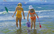 Beach Scene Paintings - Gone Fishing  by William Ireland