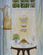 Antiques Paintings - Gone With the Wind Lamp by Douglas Ann Slusher