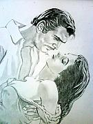 Novel Drawings - Gone With The Wind by Suhaiza Ibrahim