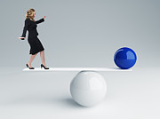 Business Woman Posters - Good Balance Poster by Gualtiero Boffi