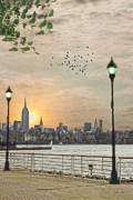Lamp Posts Prints - Good Morning New York Print by Tom York