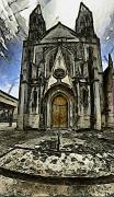 Gotic Digital Art Posters - Gotic Church Poster by Riccardo Zullian
