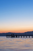 Bc Coast Photos - Government Pier at Dawn by Rob Tilley