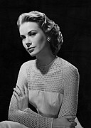 Kelly Framed Prints - Grace Kelly, 1956 Framed Print by Everett