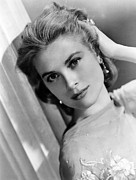 Kelly Framed Prints - Grace Kelly, Ca. 1950s Framed Print by Everett