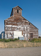 Montana Prints - Grain Elevator Print by Fran Riley